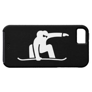 Caso do iPhone 5 do pictograma da snowboarding Capa Para iPhone 5