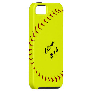 Caso do iPhone 5 do softball de Fastpitch Capa Para iPhone 5