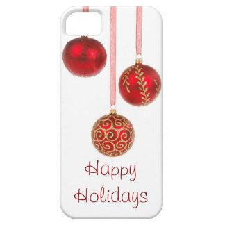 Caso do iPhone 5 dos enfeites de natal boas festas Capa Barely There Para iPhone 5