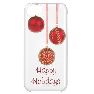Caso do iPhone 5 dos enfeites de natal boas festas Capa Para iPhone 5C
