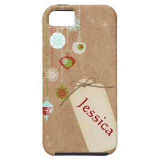 Caso do iphone 5 dos enfeites de natal capas para iPhone 5