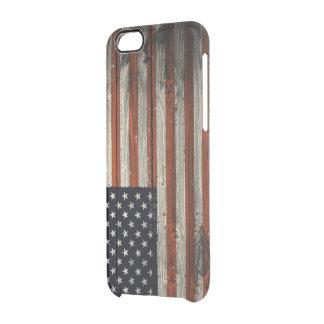 caso do iPhone 6/6s com impressão de madeira Capa Para iPhone 6/6S Transparente