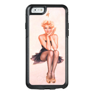 Caso do iPhone 6/6s de OtterBox da menina do Pinup