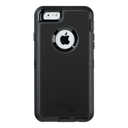 Custom OtterBox iPhone 6/6s Série Defender Case, Preto