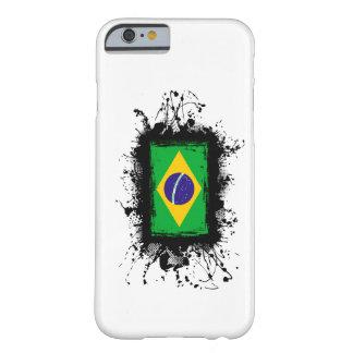 Caso do iPhone 6 da bandeira de Brasil Capa Barely There Para iPhone 6