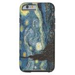 Caso do iPhone 6 da noite estrelado de Van Gogh Capa Tough Para iPhone 6