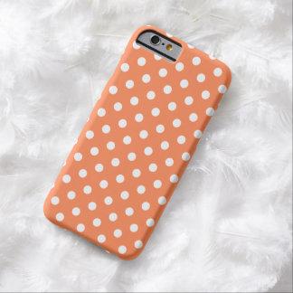 Caso do iPhone 6 das bolinhas na nectarina Capa Barely There Para iPhone 6
