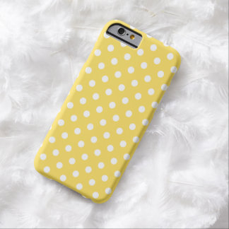 Caso do iPhone 6 das bolinhas no amarelo do Capa Barely There Para iPhone 6