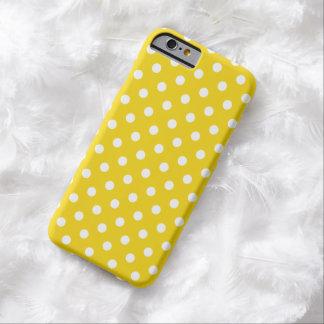 Caso do iPhone 6 das bolinhas no limão - amarelo Capa Barely There Para iPhone 6