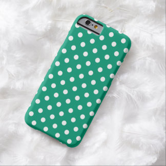 Caso do iPhone 6 das bolinhas no verde esmeralda Capa Barely There Para iPhone 6