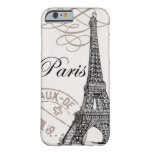 Caso do iPhone 6 de Paris do vintage… Capa Barely There Para iPhone 6