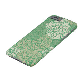 caso do iPhone 6, design floral abstrato do verde Capa Barely There Para iPhone 6