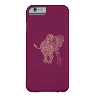 Caso do iPhone 6 do elefante da laranja/framboesa Capa Barely There Para iPhone 6