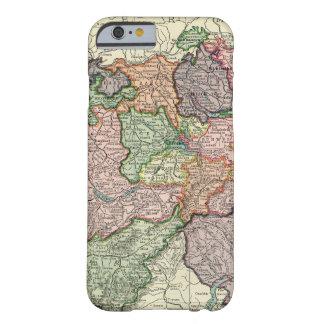 Caso do iPhone 6 do mapa do vintage da suiça mal Capa Barely There Para iPhone 6