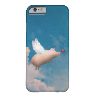 caso do iPhone 6 do porco do vôo Capa Barely There Para iPhone 6