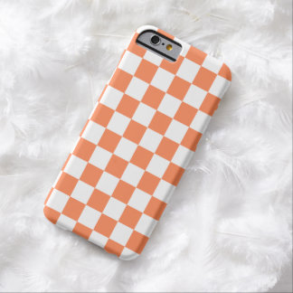 Caso do iPhone 6 do tabuleiro de damas na laranja Capa Barely There Para iPhone 6