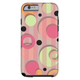 Caso do iPhone 6 dos círculos de cor dos doces Capa Tough Para iPhone 6