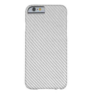 caso do iPhone 6 - fibra do carbono - branco Capa Barely There Para iPhone 6