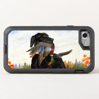 Caso do iPhone 7 da pintura do cão de caça Capa Para iPhone 7 OtterBox Defender