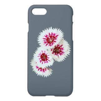 Caso do iPhone 7 das flores cor-de-rosa & brancas Capa iPhone 7