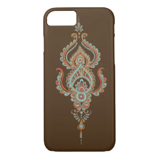 Caso do iPhone 7 de Brown paisley Capa iPhone 7