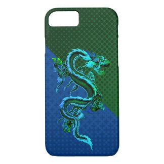 Caso do iPhone 7 do dragão azul e verde Capa iPhone 7