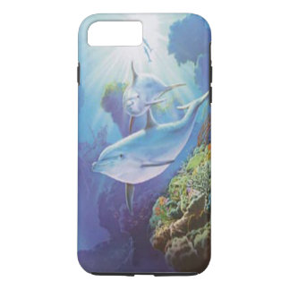 Caso do iPhone 7 do golfinho da água Capa iPhone 7 Plus