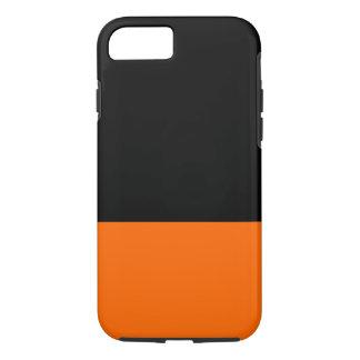 Caso do iPhone 7 do preto e da tangerina Capa iPhone 7