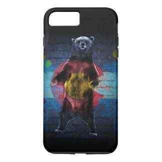 Caso do iPhone 7 do urso da bandeira de Colorado Capa iPhone 8 Plus/7 Plus