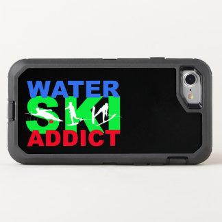 Caso do iPhone 7 do viciado do esqui de água Capa Para iPhone 7 OtterBox Defender