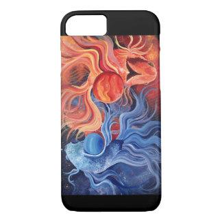 Caso do iPhone 7 dos peixes: Arte do zodíaco Capa iPhone 7