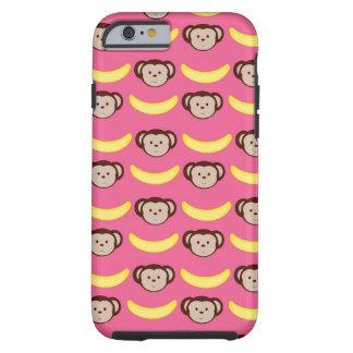 Caso do iPhone cor-de-rosa 6 do macaco e da Capa Tough Para iPhone 6