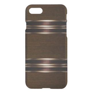 Caso do iPhone de madeira 7 do bronze/ouro do Capa iPhone 7