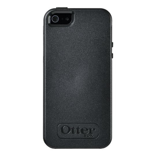 Custom OtterBox iPhone SE/5/5s Série Symmetry Case, Preto