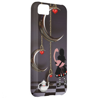 Caso do iPhone surreal 5 de Alice & de flamingo Capa Para iPhone 5C