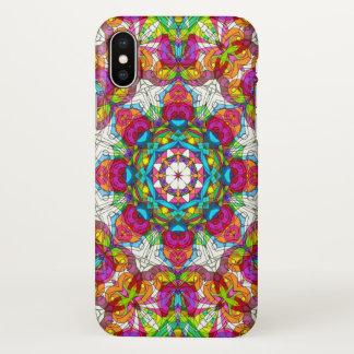 caso do iPhone X que tira o Doodle floral G30 Capa Para iPhone X