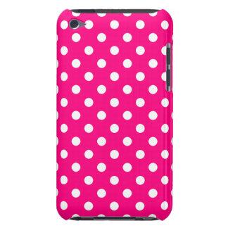 Caso do ipod touch G4 das bolinhas do rosa quente Capa Para iPod Touch