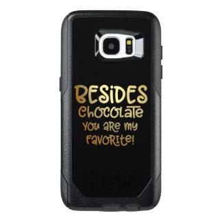 """Caso do telemóvel do chocolate da galáxia S """"além"""""""