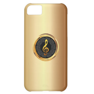 Caso elegante do iPhone 5 do símbolo de música do Capa Para iPhone 5C