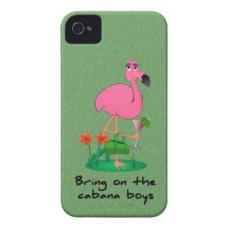 Caso engraçado do iPhone 4/4S do flamingo mal lá Capa Para iPhone