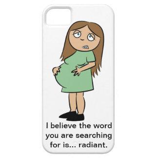 Caso engraçado do iPhone 5 da gravidez Capa Barely There Para iPhone 5