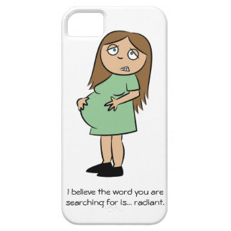 Caso engraçado do iPhone 5 da gravidez Capa Para iPhone 5