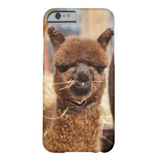 Caso engraçado do iPhone 6 da alpaca mal lá Capa Barely There Para iPhone 6