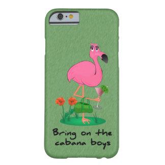 Caso engraçado do iPhone 6 do flamingo Capa Barely There Para iPhone 6
