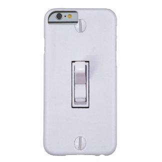Caso engraçado do iPhone 6 do interruptor da luz Capa Barely There Para iPhone 6