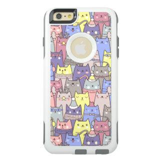 Caso engraçado do iPhone 6 dos gatos do Natal