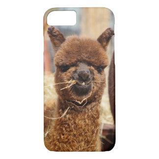 Caso engraçado do iPhone 7 da alpaca mal lá Capa iPhone 7