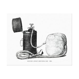 Caso ereto 1896 da anestesia do cirurgião impressão em tela canvas