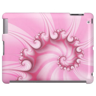Caso espiral cor-de-rosa do ipad do Fractal dos Capa Para iPad