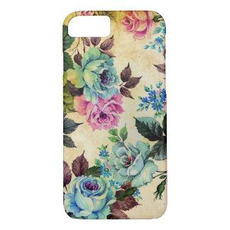 Caso floral antigo do iPhone 7 Capa iPhone 7